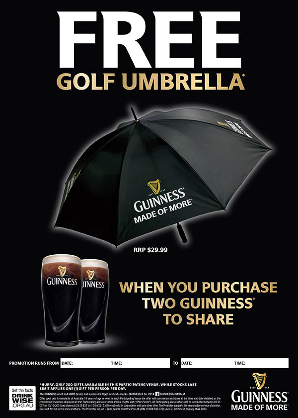 Branded Merchandise - Guinness Umbrella