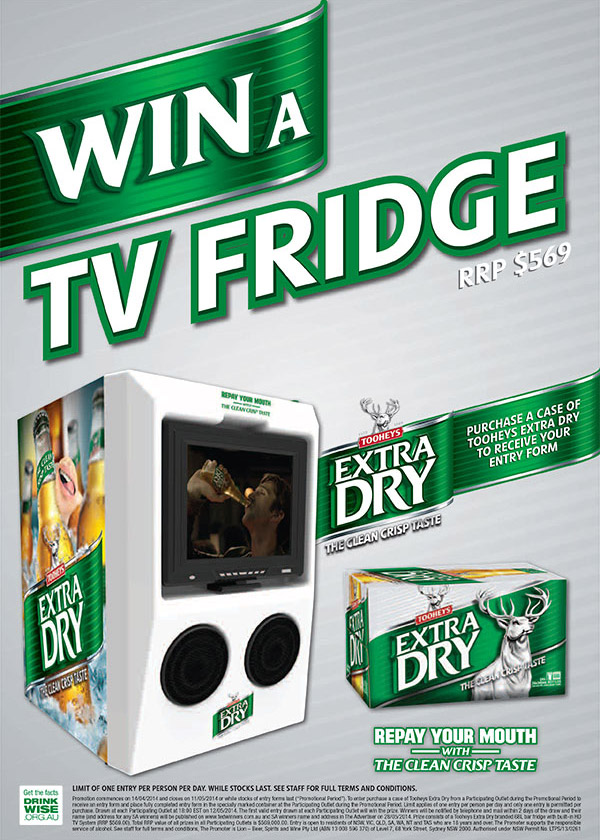 Bespoke Creative Products - TED TV Fridge