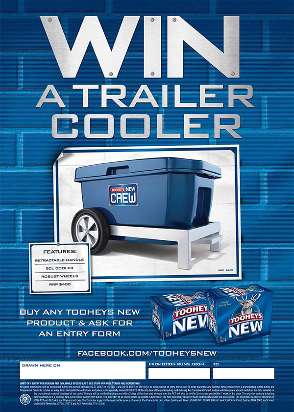 Custom Promotional Products - Tooheys Trailer Cooler