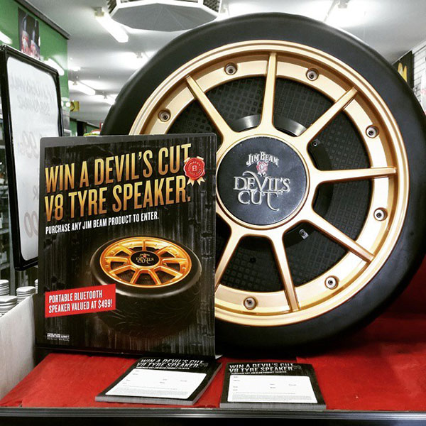 bespoke-products-jim-beam-tyre-speaker-display