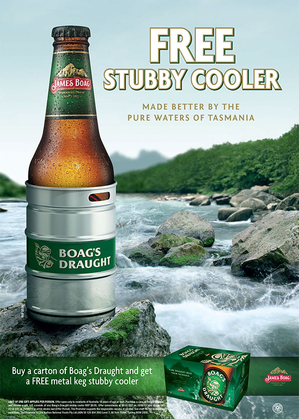 Bespoke Promotional Products - Boags Stubby Cooler